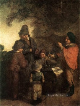 The Stall keeper Dutch genre painters Adriaen van Ostade Oil Paintings