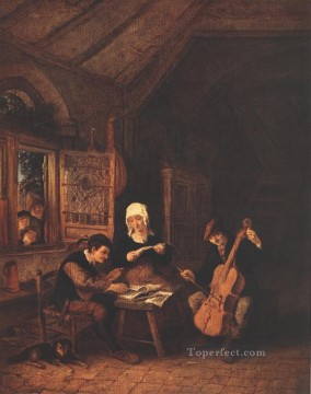 painter Oil Painting - Village Musicians Dutch genre painters Adriaen van Ostade