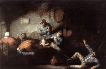 Inn Scene Dutch genre painters Adriaen van Ostade Oil Paintings