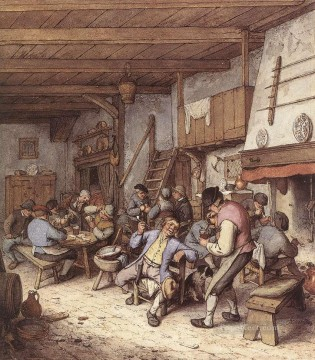 Tavern Interior Dutch genre painters Adriaen van Ostade Oil Paintings
