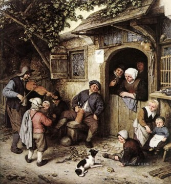 Painters Art - The Violinist Dutch genre painters Adriaen van Ostade