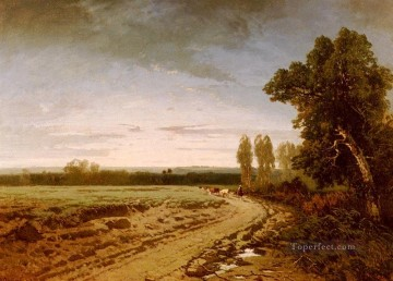 Alberto Pasini Painting - Going To The Pasture Early Morning Alberto Pasini