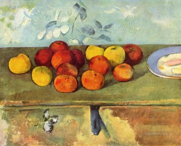 Cezanne Art Painting - Apples and Biscuits Paul Cezanne