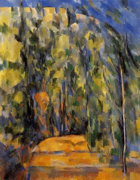 Rest Painting - Bend in Forest Road Paul Cezanne