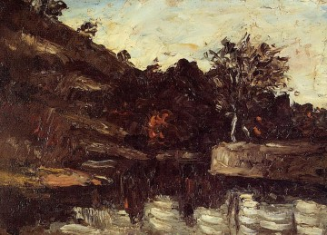 Cezanne Art Painting - Bend in the River Paul Cezanne
