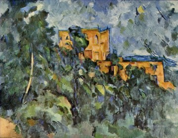 hat Oil Painting - Chateau Noir 2 Paul Cezanne