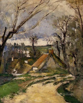 Cottages of Auvers Paul Cezanne Oil Paintings