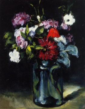 Flowers in a Vase 2 Paul Cezanne Oil Paintings