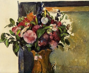 Flowers in a Vase Paul Cezanne Oil Paintings