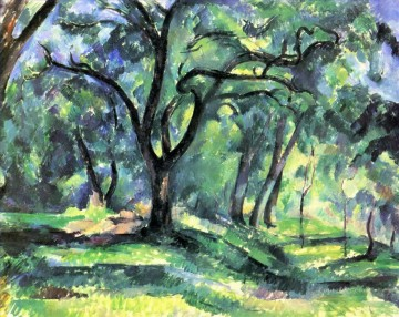 Rest Painting - Forest 1890 Paul Cezanne