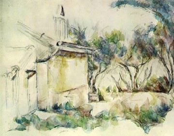 Cezanne Art Painting - Jourdans Cottage Paul Cezanne