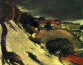 L Estaque under Snow Paul Cezanne