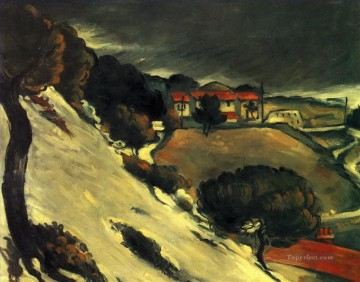 L Estaque under Snow Paul Cezanne Oil Paintings