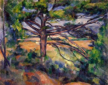 Large Pine and Red Earth Paul Cezanne Oil Paintings