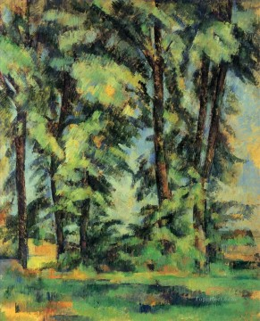 Cezanne Art Painting - Large Trees at Jas de Bouffan Paul Cezanne