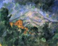 Montagne Sainte Victoire and the Black Chateau Paul Cezanne