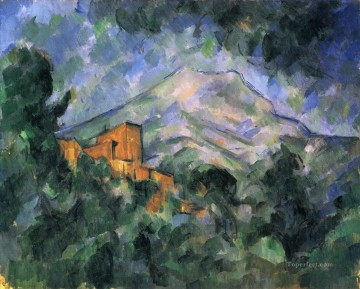 Sainte Painting - Montagne Sainte Victoire and the Black Chateau Paul Cezanne
