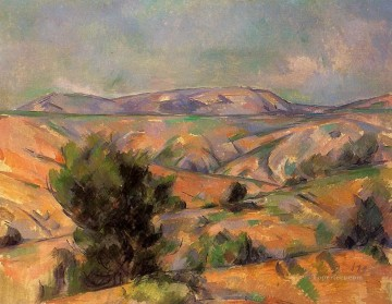 Mount Sainte Victoire Seen from Gardanne Paul Cezanne Oil Paintings