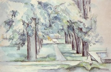 Paul Cezanne Painting - Pool and Lane of Chestnut Trees at Jas de Bouffan Paul Cezanne