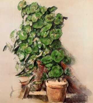 geraniums art - Pots of Geraniums Paul Cezanne