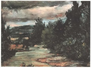 River in the plain Paul Cezanne Oil Paintings