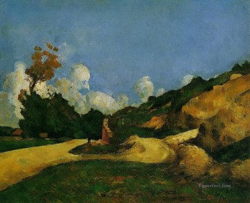 Road Oil Painting - Road 1871 Paul Cezanne