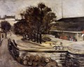 The Halle aux Vins seen from the rue de Jussieu Paul Cezanne