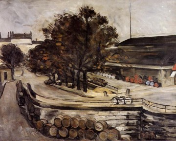 The Halle aux Vins seen from the rue de Jussieu Paul Cezanne Oil Paintings