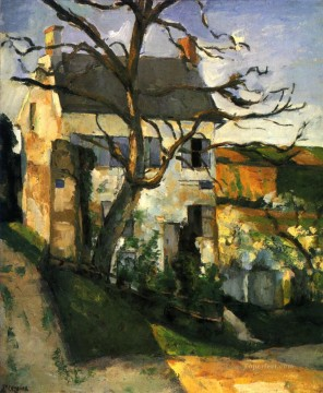Paul Cezanne Painting - The House and the Tree Paul Cezanne