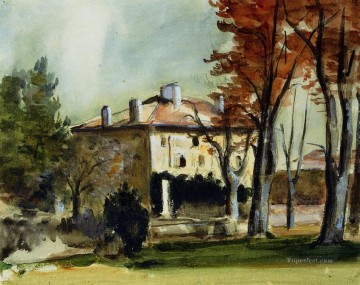 Paul Cezanne Painting - The Manor House at Jas de Bouffan Paul Cezanne