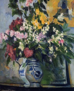 Two Vases of Flowers Paul Cezanne Oil Paintings