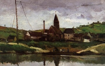 View of Bonnieres Paul Cezanne Oil Paintings