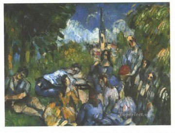 A Lunch on the Grass Paul Cezanne Oil Paintings