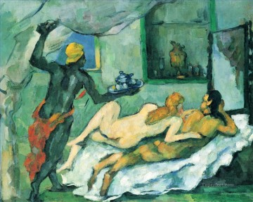 Afternoon in Naples Paul Cezanne Oil Paintings