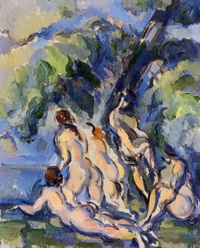 Bather Art - Bathers 1906 Paul Cezanne