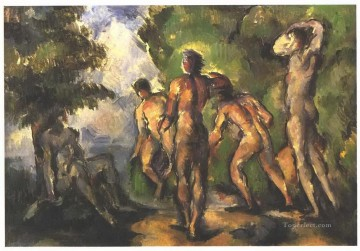 Rest Painting - Bathers at Rest Paul Cezanne