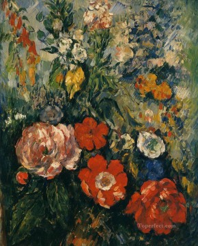 Cezanne Art Painting - Bouquet of Flowers Paul Cezanne