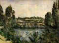 Bridge and Waterfall at Pontoise Paul Cezanne