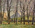Chestnut Trees at the Jas de Bouffan Paul Cezanne