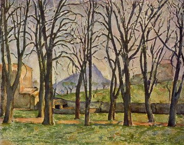 Paul Cezanne Painting - Chestnut Trees at the Jas de Bouffan Paul Cezanne