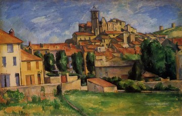 Paul Cezanne Painting - Gardanne Horizontal View Paul Cezanne