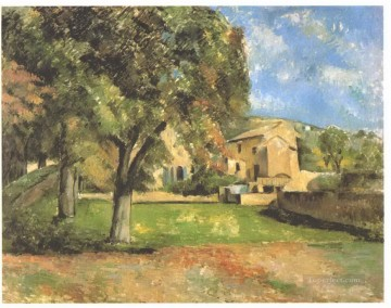 Horse chestnut trees in Jas de Bouffan Paul Cezanne Oil Paintings