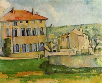 House and Farm at Jas de Bouffan Paul Cezanne Oil Paintings