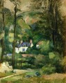 Houses in the Greenery Paul Cezanne