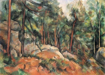 Rest Painting - In the Forest Paul Cezanne
