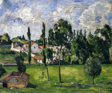 Landscape with Waterline Paul Cezanne Oil Paintings
