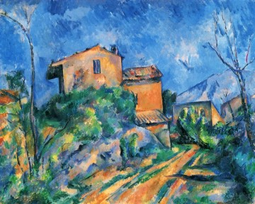 Maison Maria with a View of Chateau Noir Paul Cezanne Oil Paintings