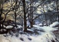 Melting Snow Fontainbleau Paul Cezanne