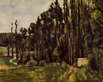 POP Oil Painting - Poplars Paul Cezanne