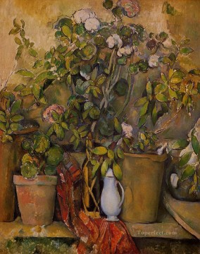 Potted Plants Paul Cezanne Oil Paintings